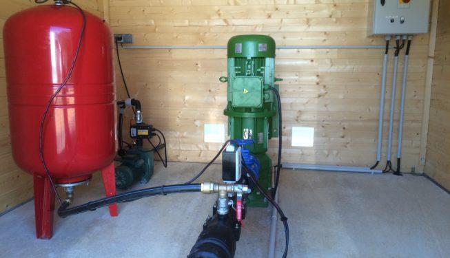 Réalisation complète station de pompage 40 m3/h (local, câblage...)