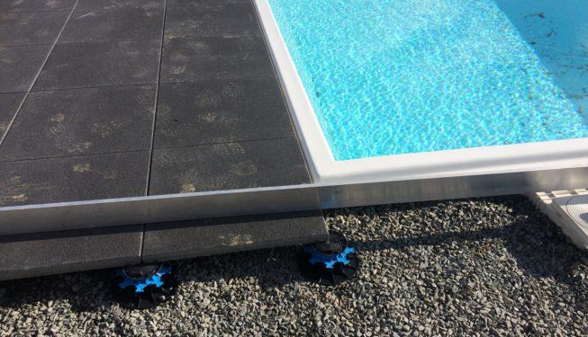 Réalisation terrasse piscine sur plot